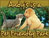 Andy's Travel Trailer Park is Pet Friendly